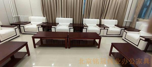 北京铭冠伟业办公家具-会客室配套办公家具沙发茶几组合
