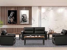 现代商务办公沙发茶几