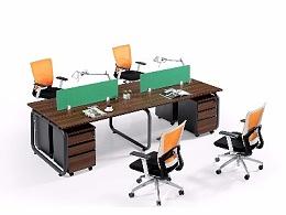 直排四人位组合工位办公桌