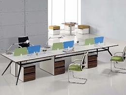 时尚钢架工位办公桌